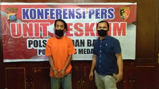 Simpan Sabu, Seorang Pemuda Ditangkap Polisi di Simpang Simalingkar Medan
