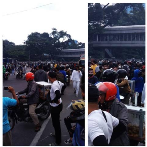 Demo Tolak Omnibus Law Ricuh di Medan, Pendemo Tumbang Ditembak Gas Airmata