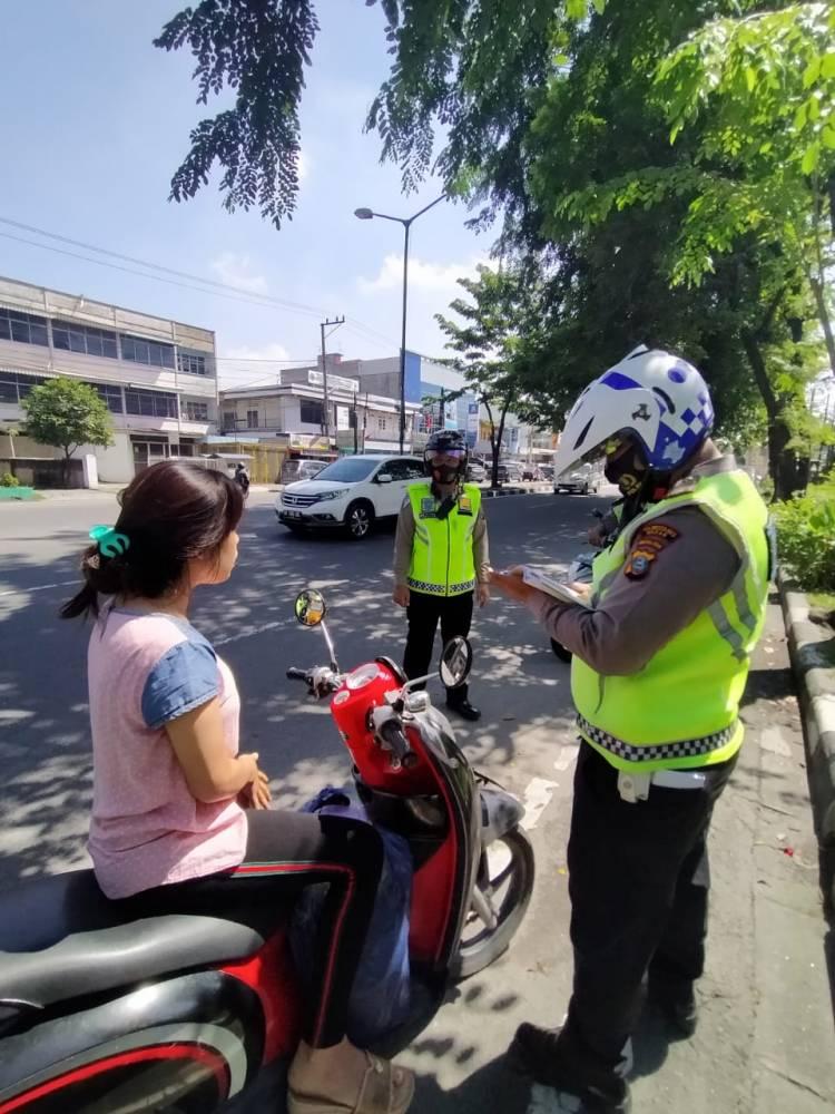 279 Pengendara Ditindak Satlantas Polrestabes Medan, Operasi Zebra Toba 2020