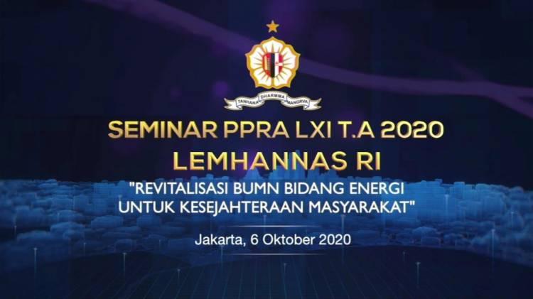 Lemhannas RI Gelar Seminar PPRA LXI TA 2020 Secara Virtual