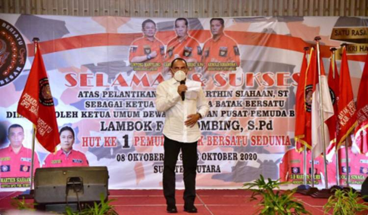 Gubernur Sumut Hadiri HUT Pemuda Batak Bersatu, Edy Rahmayadi Harapkan PBB Beri Kontribusi untuk Membangun Sumut