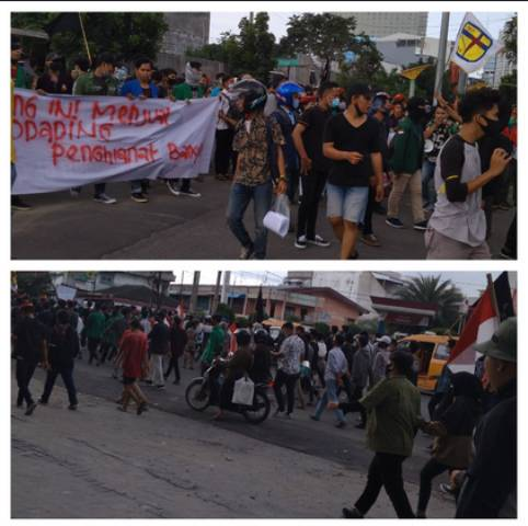 Demo Tolak Omnibus Law UU Cipta Kerja Berlanjut, Ribuan Mahasiswa di Medan Kembali Turun ke Jalan