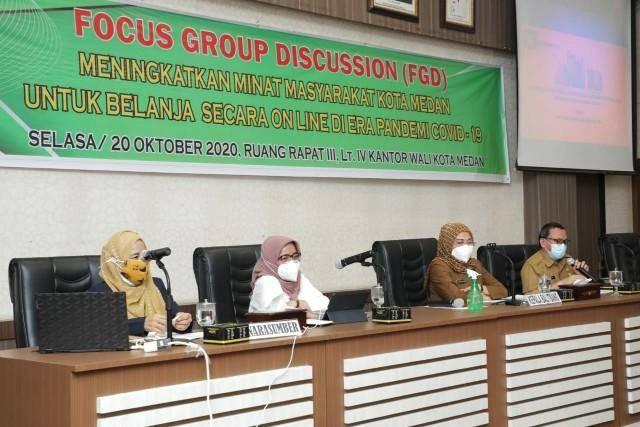 Pemko Medan Gelar FGD, Ajak Masyarakat Belanja Online di Era Pandemi Covid-19