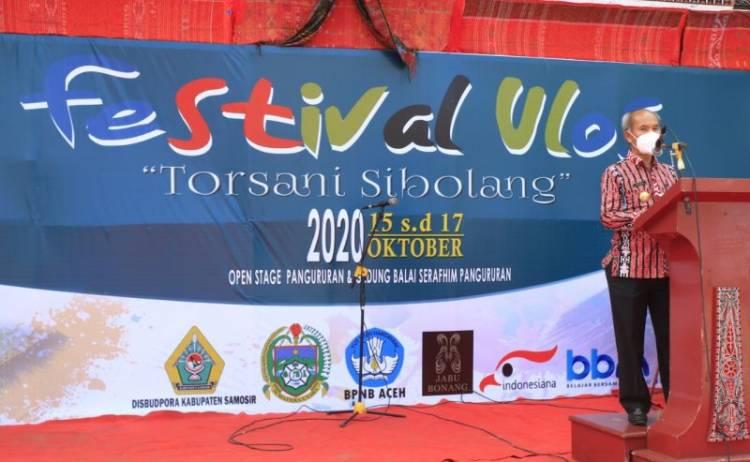 Kembangkan Rasa Bangga Bagi Generasi Muda, Pemkab Samosir Gelar Festival Ulos
