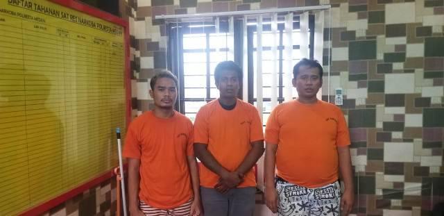 Polrestabes Medan Amankan Tiga Pria Pengedar Pil Ekstasi di Jalan Iskandar Muda