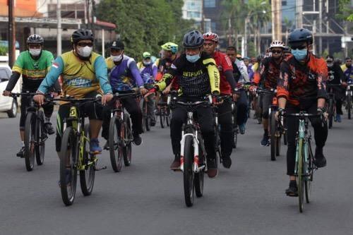 Gowes Sepeda Bersama ASN Pemko Medan di Cadika, Pjs Wali Kota Arief Sudarto: Tingkatkan Semangat dalam Bekerja