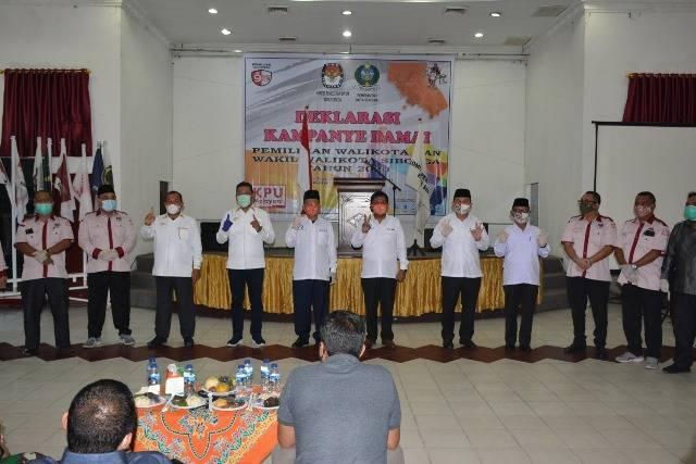 Jelang Pilkada 2020, KPU Kota Sibolga Gelar Deklarasi Kampanye Damai
