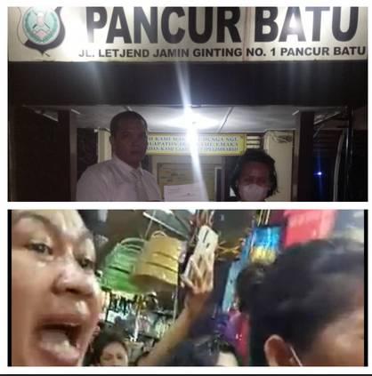 Kios Pedagang Ulos Diserang Emak-Emak, Tanty Br Tarigan Laporkan E Boru Ginting ke Polsek Pancur Batu