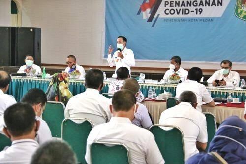 Pjs Walikota Medan Minta Seluruh OPD Bekerjasama Dalam Percepatan Penanganan Covid-19 di Kota Medan