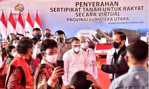 Presiden Serahkan 22.000 Sertifikat Tanah di Humbahas, Gubernur: Diwariskan, Jangan Diperjualbelikan