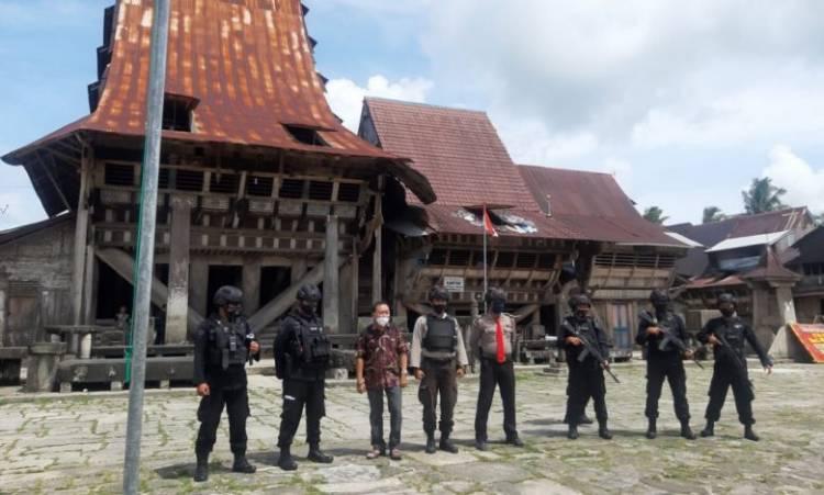 Brimob Batalyon C Sumut Laksanakan Patroli Dialogis di Nias Selatan