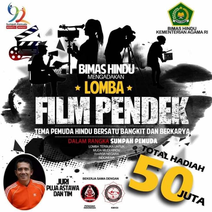 Lomba Film Pendek Pemuda Hindu Kemenag Tahun 2020, Berhadiah Total Rp50 Juta, Cek di Sini Persyaratannya