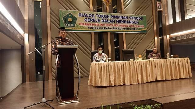 Hadiri Dialog Tokoh Pimpinan Synode Gereja Sumut, Kakanwil Kemenagsu Ingatkan Pentingnya Jaga Kerukunan Beragama