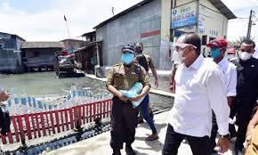 Gubernur Sumut Kunjungi Daerah Banjir Rob Belawan, Pemko Medan dan Pelindo I Diminta Bersinergi Tata Pemukiman Warga