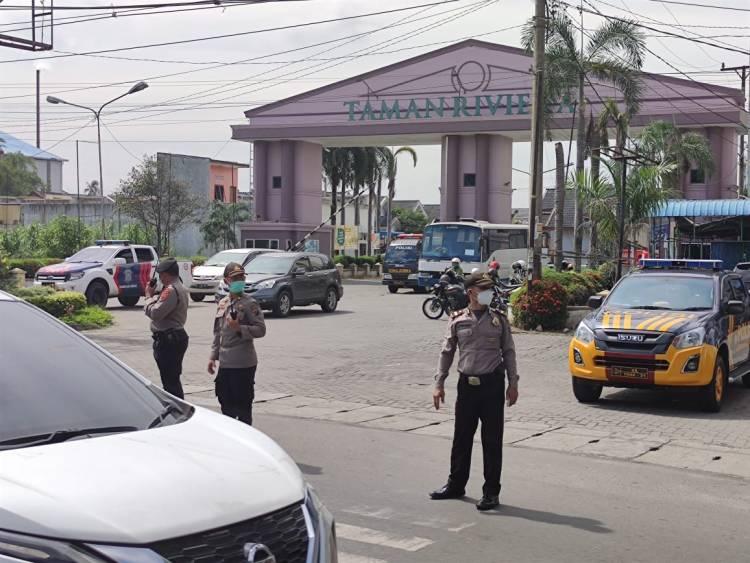 Polresta Deli Serdang Lakukan Penyekatan Perbatasan Wilayah, Antisipasi Pergerakan Massa Unras Menuju Medan