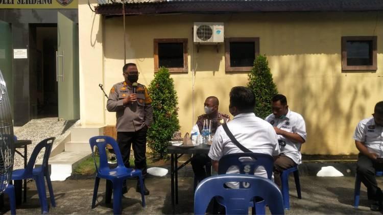 Kapolresta Deli Serdang Ajak WUPDS G-17 Dukung Pemberitaan Positif