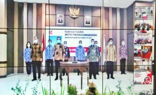 Plt Inspektur Kota Medan Saruddin Hutasuhut Ikuti Pelantikan Pengurus IPKN Sumbagut secara Virtual