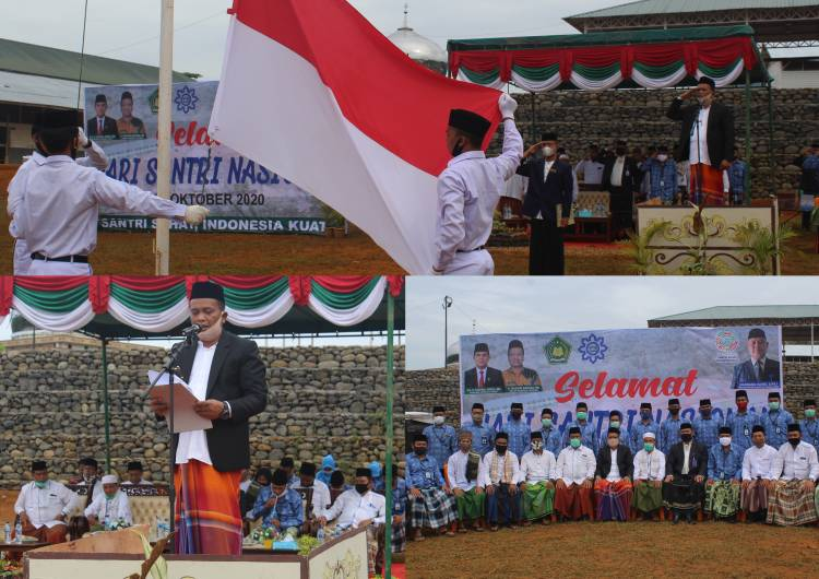 Ponpes Ar-Raudhatul Hasanah 2 Gelar Upacara Peringatan Hari Santri Nasional