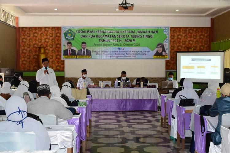 Kemenag Kota Tebing Tinggi Gelar Sosialisasi Kebijakan Haji