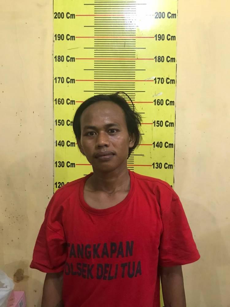 Polisi Tangkap Seorang Pencandu Sabu Terlibat Curanmor di Deli Tua