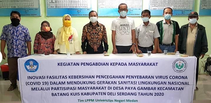 PPM Unimed Kembangkan Inovasi Cegah Penyebaran Covid-19 di Desa Paya Gambar, Deli Serdang