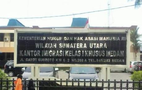 WNA Asal Malaysia Diamankan di Kantor Imigrasi Kelas I Khusus Medan