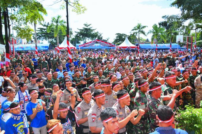 Peringati Apel Nusantara Bersatu, Arus Lantas di Lapangan Benteng Dialihkan