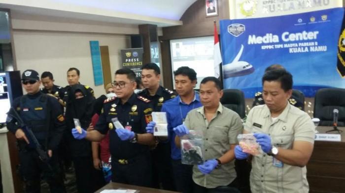 Bea Cukai Kuala Namu Gagalkan Penyelundupan Narkotika