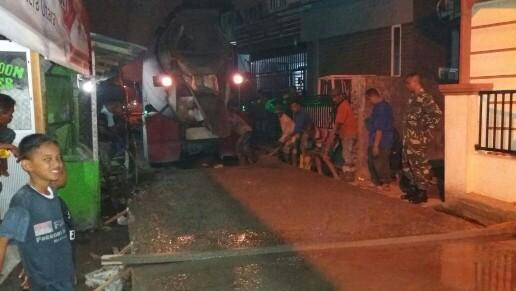 Dinas PU Beton Jalan Rusak di Medan Denai, Belawan dan Sunggal