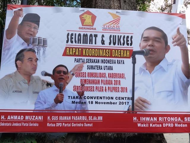 Pilgubsu, Gerindra Usung Letjen TNI Edy Rahmayadi