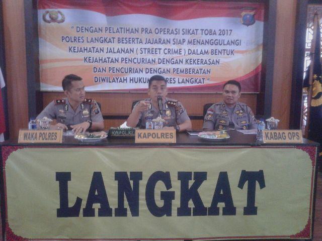 Polres Langkat Latihan Pra Operasi Sikat Toba 2017