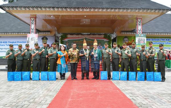 Wakili Pangdam, Kasdam I/BB Buka Kegiatan Baksos TNI KB-Kes Tingkat Provinsi Sumut di Pematangsiantar