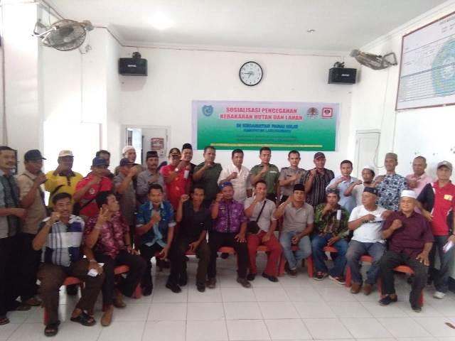 TNI, Polri dan Pemkab Labuhan Batu Gelar Sosialisasi Pencegahan Kebakaran Hutan dan Lahan