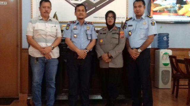 Bahas Situasi Pengamanan, Kapolsek Medan Helvetia Kunjungi Rutan Kelas 1 Medan