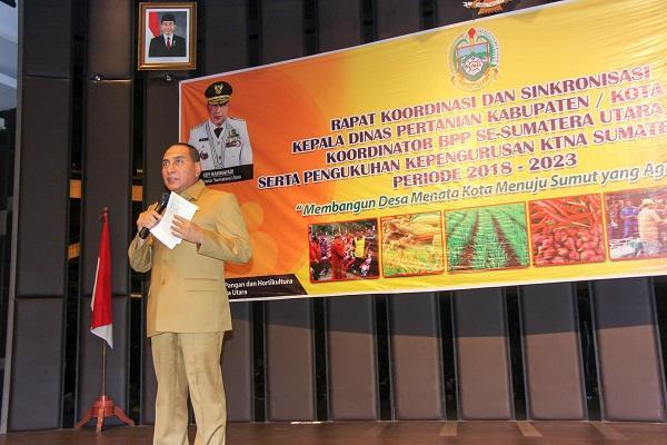 Rakor dan Sinkronisasi Dinas Pertanian Kabupaten/Kota, Gubernur Bertekad Jadikan Sumut Provinsi Agraris