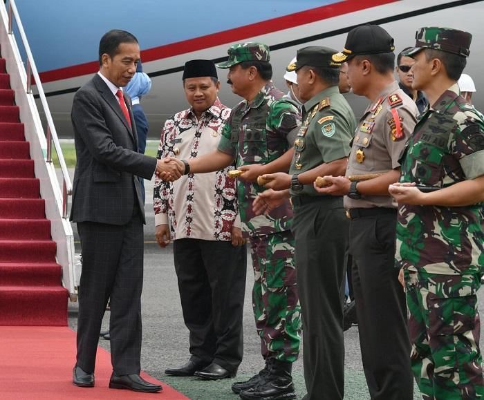 Presiden Jokowi Hadiri Apel Danrem Dandim Terpusat 2018 di Bandung