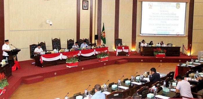 Wali Kota Medan Sampaikan Nota Jawaban Tentang Pencabutan Perda Retribusi Izin Gangguan