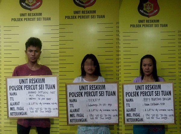 IRT, Gadis ABG, dan Pria Pengedar Digrebek Polisi Saat Pesta Sabu di Jalan Letsu Gang Lombok