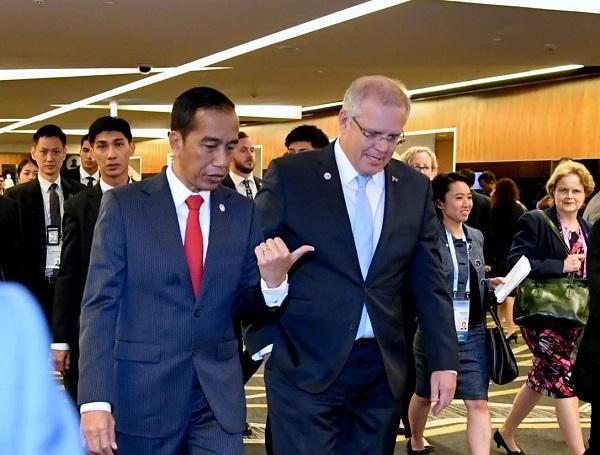 Bertemu PM Australia di Singapura, Presiden Jokowi Tegaskan Sikap Indonesia Soal Palestina
