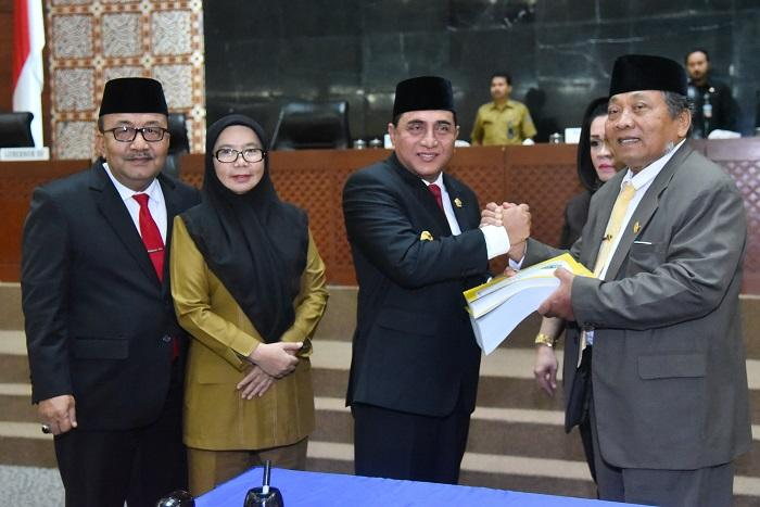 Gubernur Sampaikan Nota Keuangan dan Ranperda APBD Sumut 2019