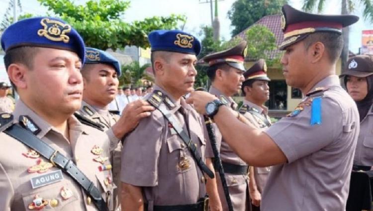 Empat PJU Polres Tanjungbalai Ikuti Upacara Sertijab