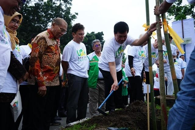 USU Launching Program USU Green Campus dan Penanaman Pohon Tabebuya