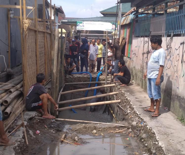 Warga Jalan Bromo Lingkungan 9 Protes Pembanguan IPAL Sanimas