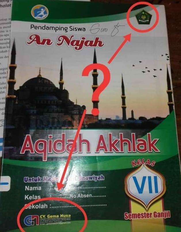 Kemenag Tarik Peredaran Buku Aqidah Akhlak Terbitan Gema Nusa