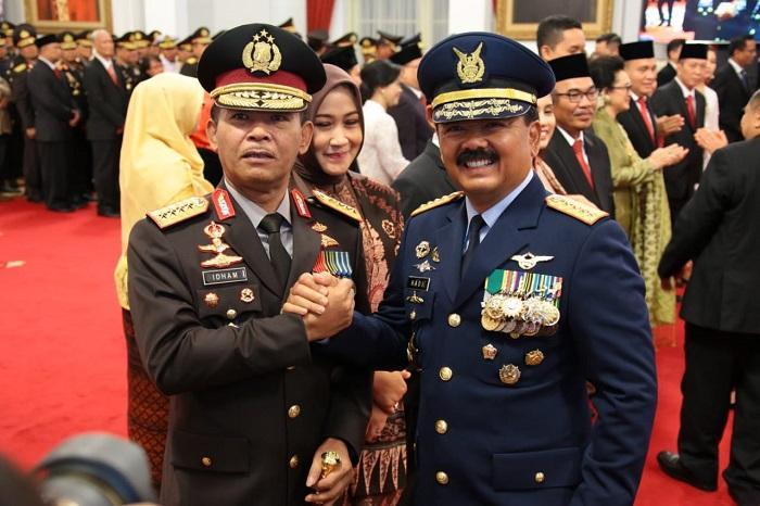 Resmi Jadi Kapolri, Idham Aziz Kunjungi Subden Mabes TNI di Jakarta Pusat