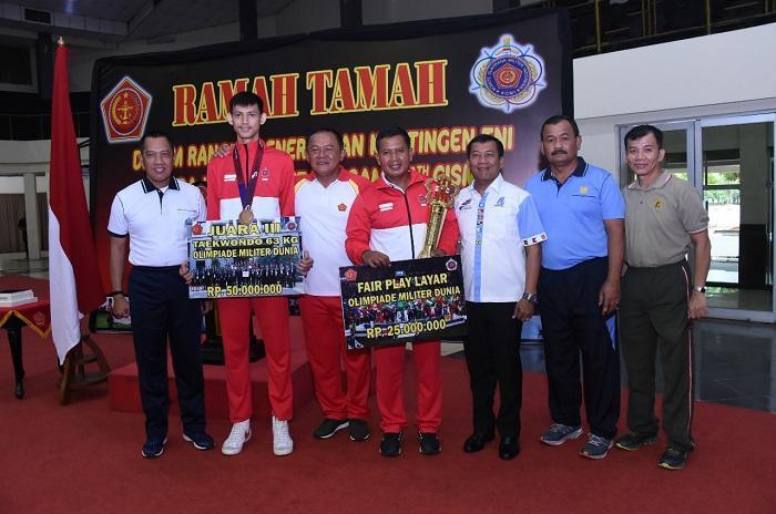 Kedatangan Kontingen Military World Games 2019 Disambut Asops Panglima TNI