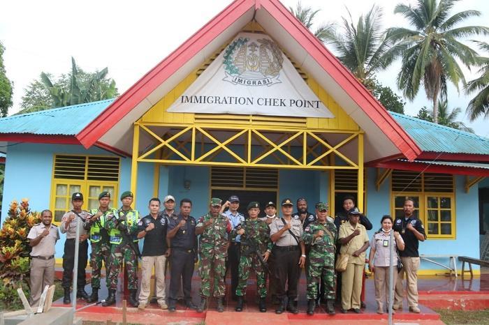 Cegah WNA Ilegal ke Indonesia, Imigrasi Merauke Kerjasama dengan Satgas Yonif MR 411 Kostrad