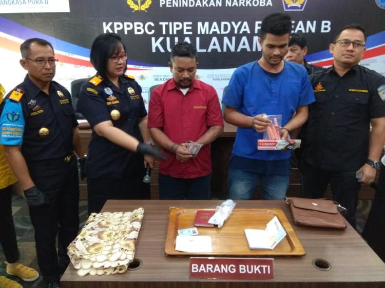 Selundupkan Sabu Dalam Spidol dan Odol, WN Malaysia dan Indonesia Diciduk Petugas Bea Cukai