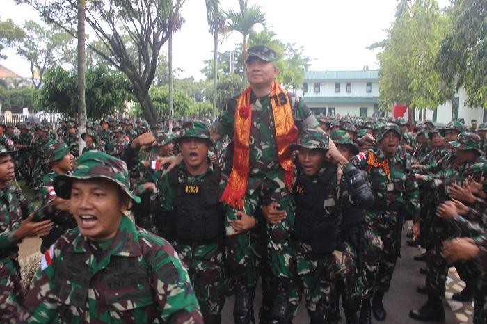 Cek Kesiapan Tugas, Tim Riksiapops Mabes TNI Kunjungi Yonif 133/YS