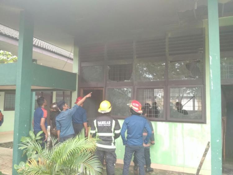 Laboratorium di Fakultas MIPA USU Terbakar